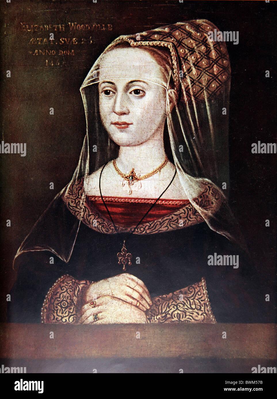 Portrait of Elizabeth Woodville, Queen consort of Edward IV 1463 - Stock Image