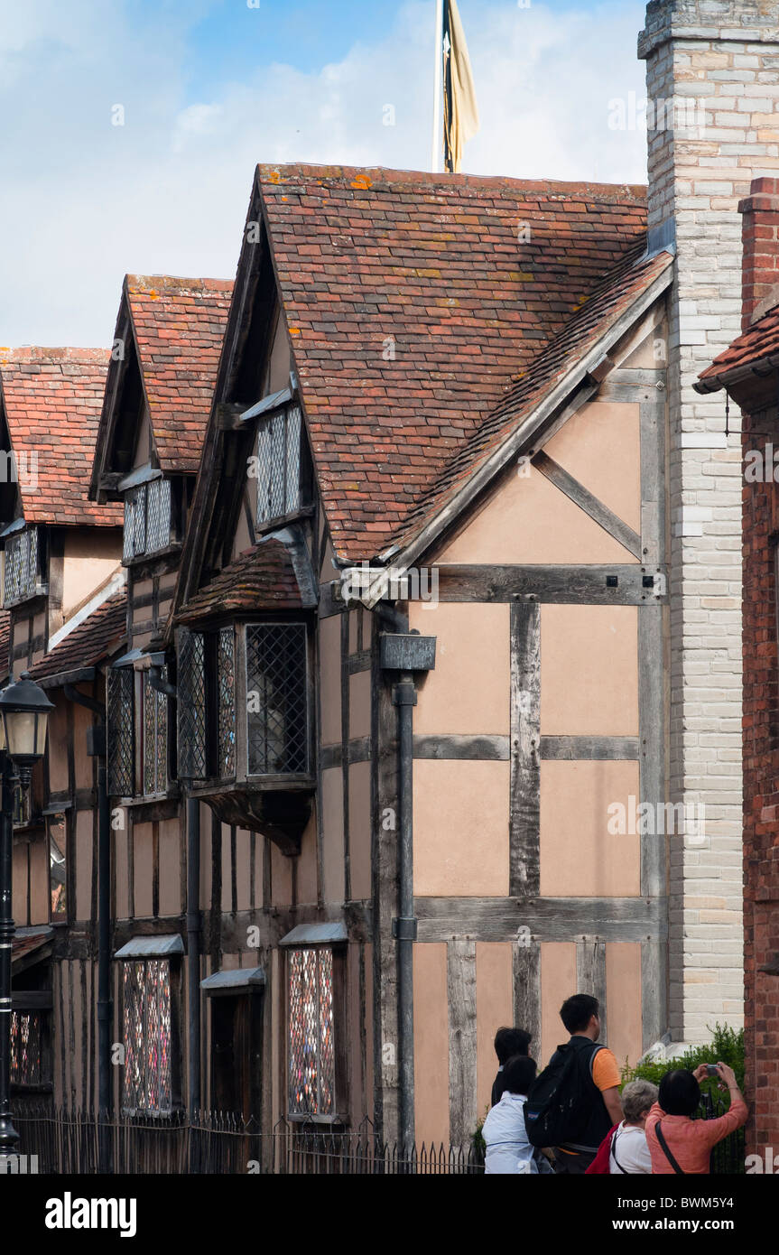 William Shakespeare's birthplace in Stratford upon Avon, England - Stock Image
