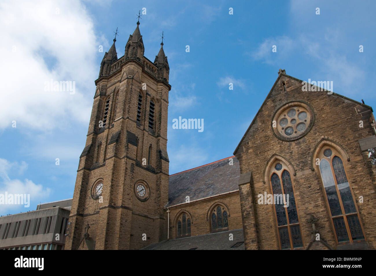St John the Evangelist in Blackpool on the coast of Lancashire in Northern England - Stock Image