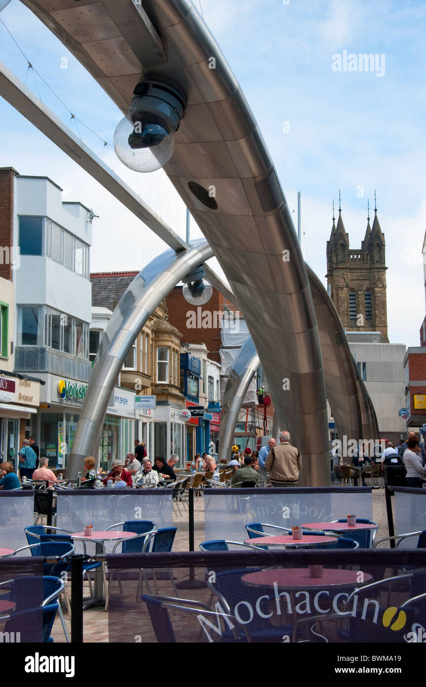 Gigantic sculptures in the shopping areas of Blackpool on the coast of Lancashire in Northern England - Stock Image