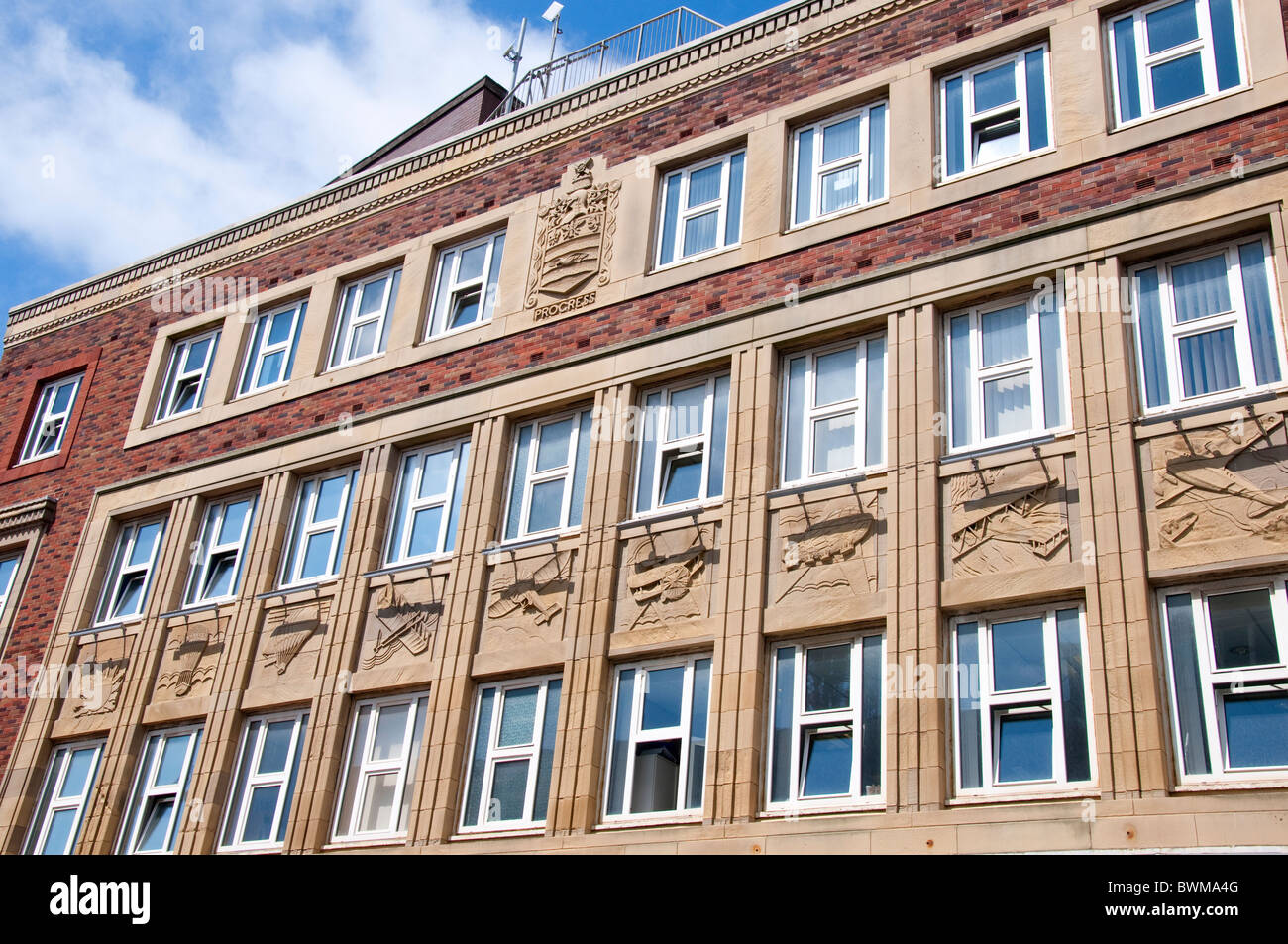 Art Deco Building in Blackpool on the coast of Lancashire in Northern England - Stock Image