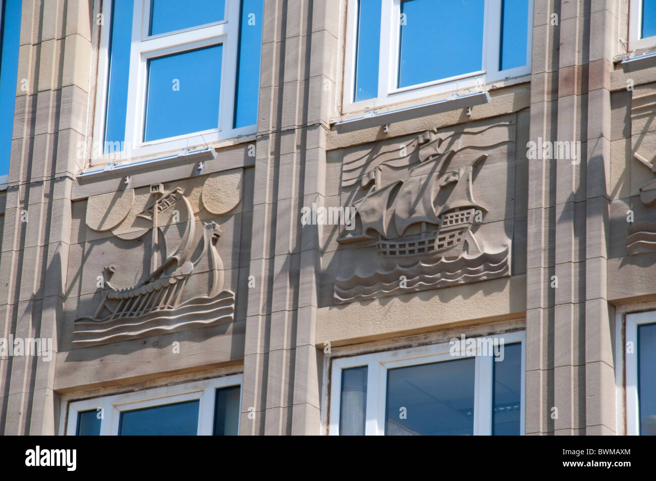 Art Dec Building in Blackpool on the coast of Lancashire in Northern England - Stock Image