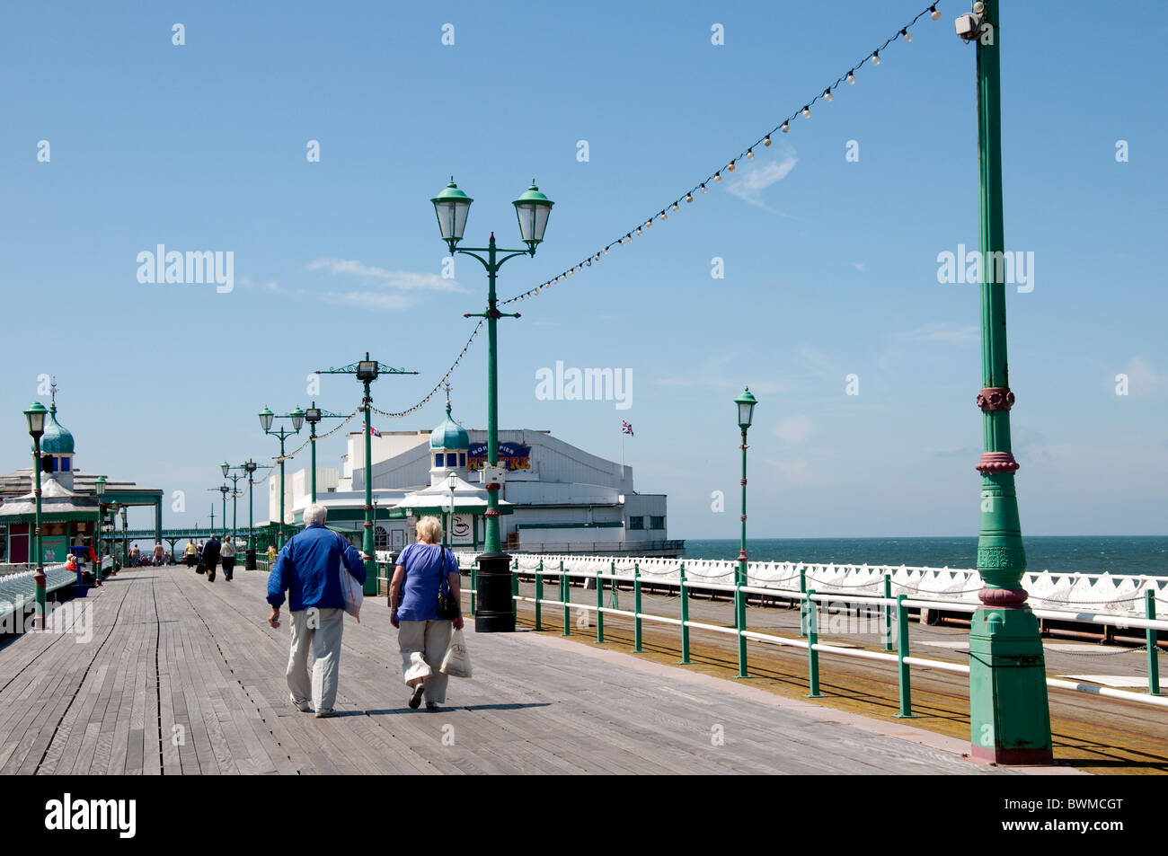 The North Pier of Blackpool on the coast of Lancashire in Northern England - Stock Image