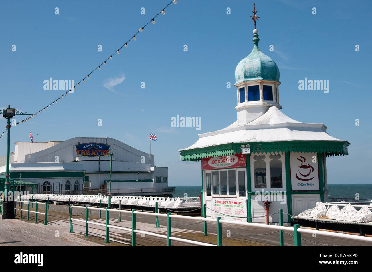 The North Pier atBlackpool on the coast of Lancashire in Northern England - Stock Image