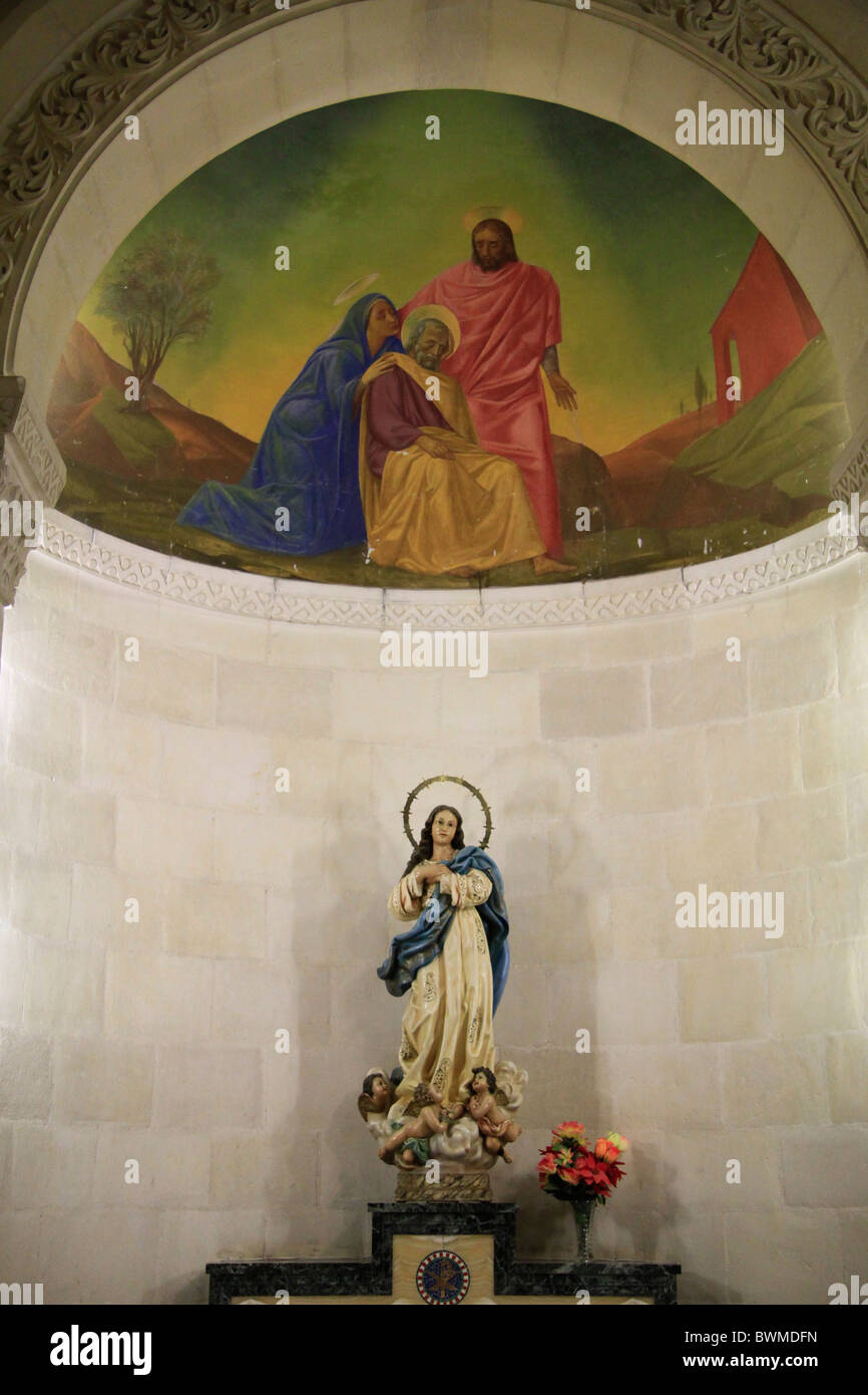 Israel, Lower Galilee, the Church of St. Joseph in Nazareth - Stock Image