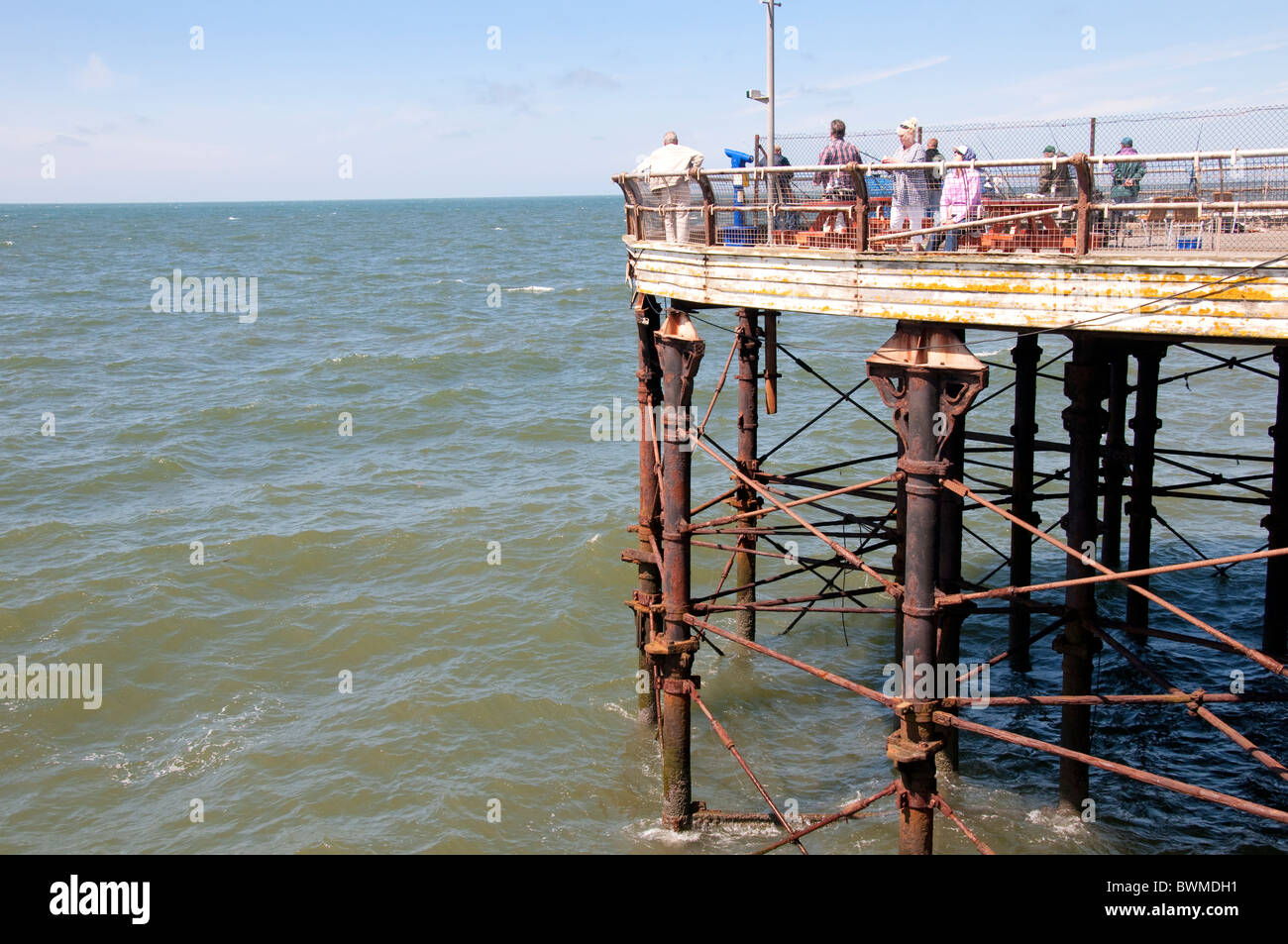 The end of the Central Pier in Blackpool on the coast of Lancashire in Northern England - Stock Image