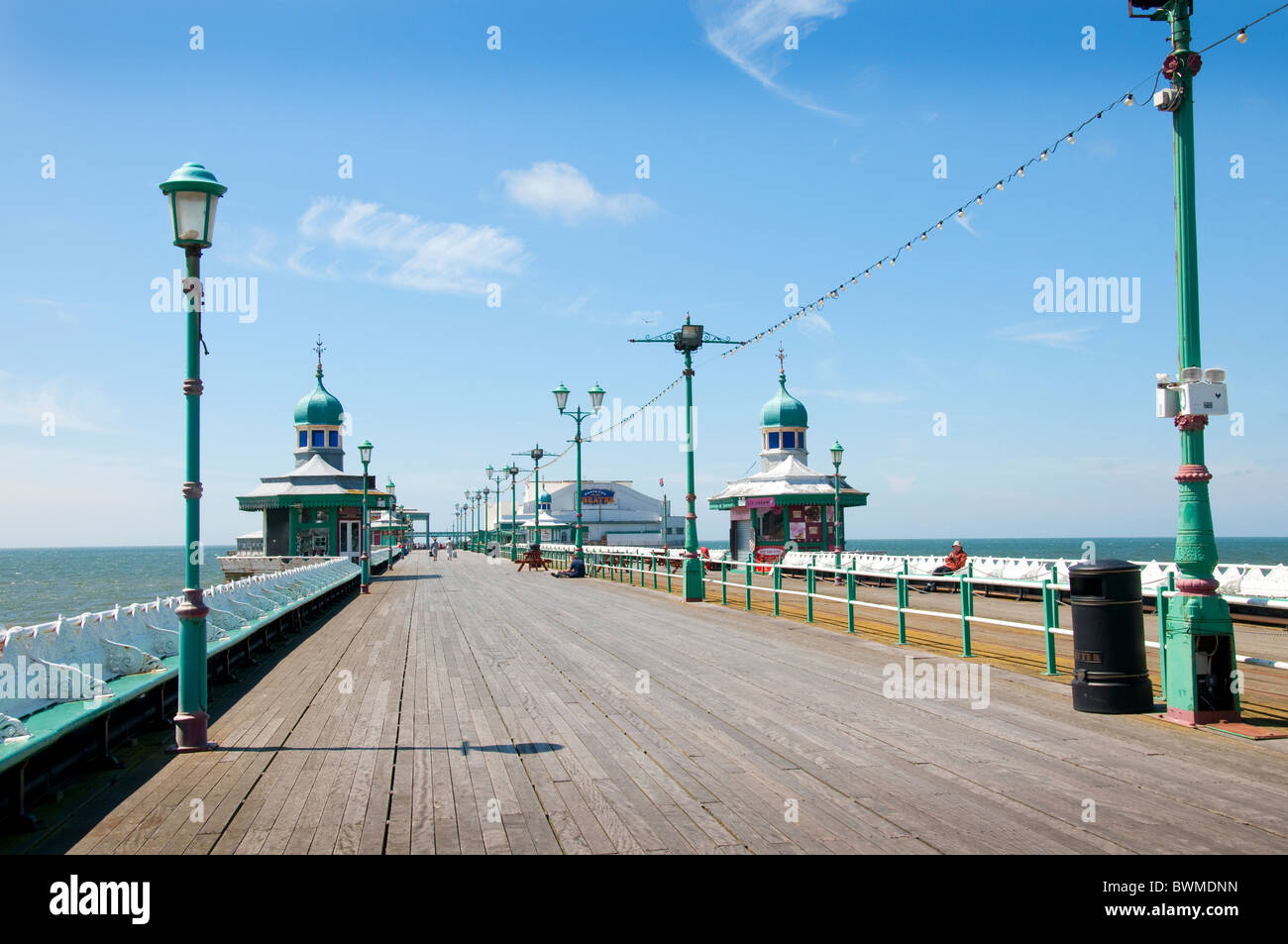The North Pier at Blackpool on the coast of Lancashire in Northern England - Stock Image
