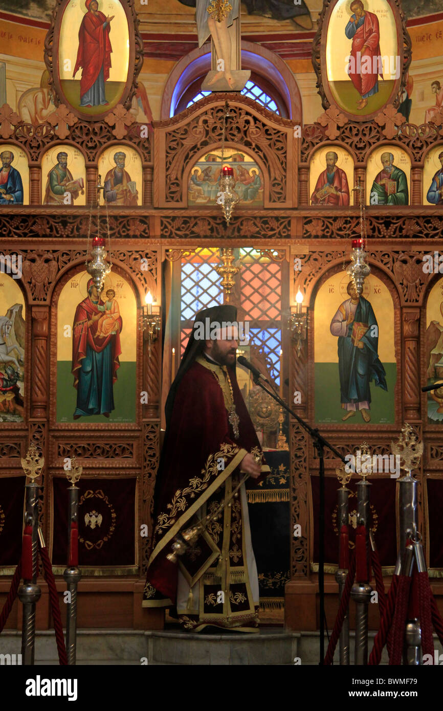 Israel, Lower Galilee, the Greek Orthodox St. George Church in Kafr Cana - Stock Image