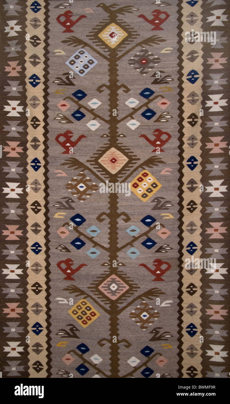 Traditional woolen rug from Bulgaria - Stock Image