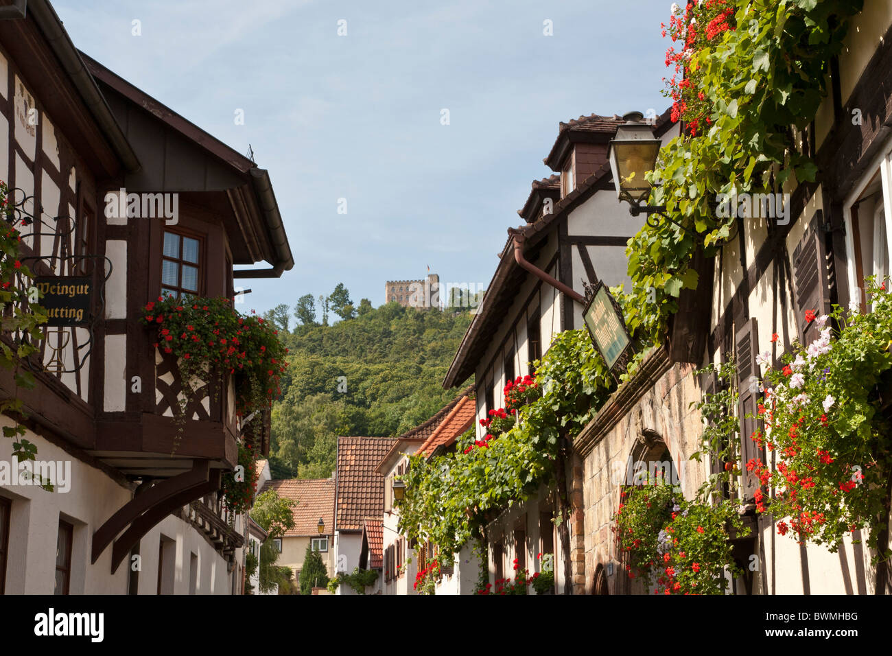 schlossstrasse hambach castle hambach near neustadt an der stock photo 33029460 alamy. Black Bedroom Furniture Sets. Home Design Ideas