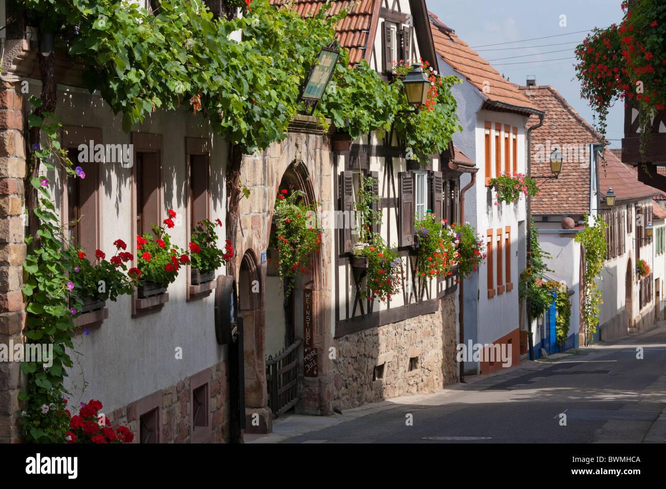 schlossstrasse hambach near neustadt an der weinstrasse german stock photo 33029482 alamy. Black Bedroom Furniture Sets. Home Design Ideas