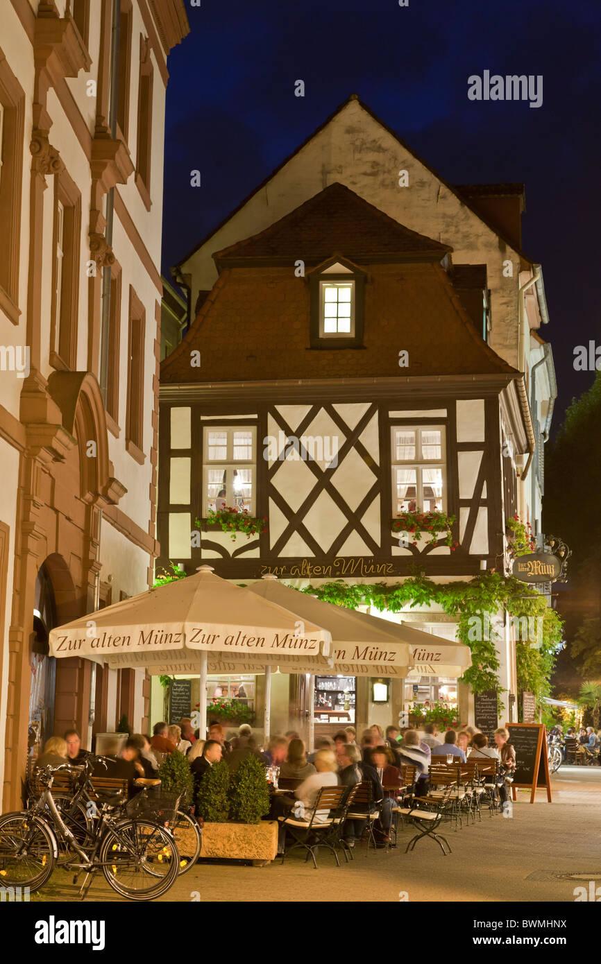 Wine Tavern Zur Alten Muenz Korngasse Lane Speyer Pfalz Stock