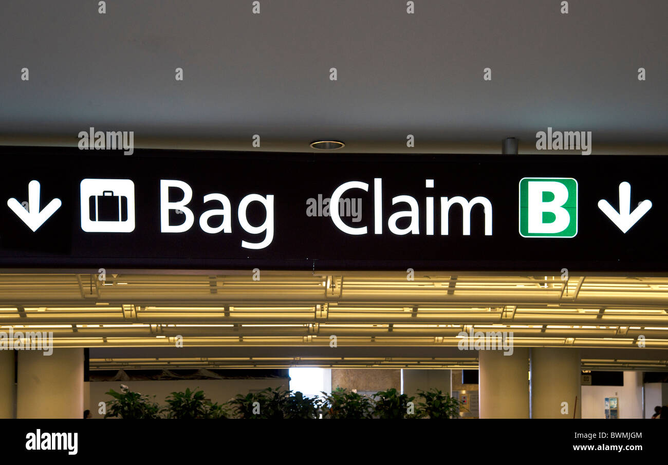 Baggage Claim Sign Stock Photos Baggage Claim Sign Stock Images