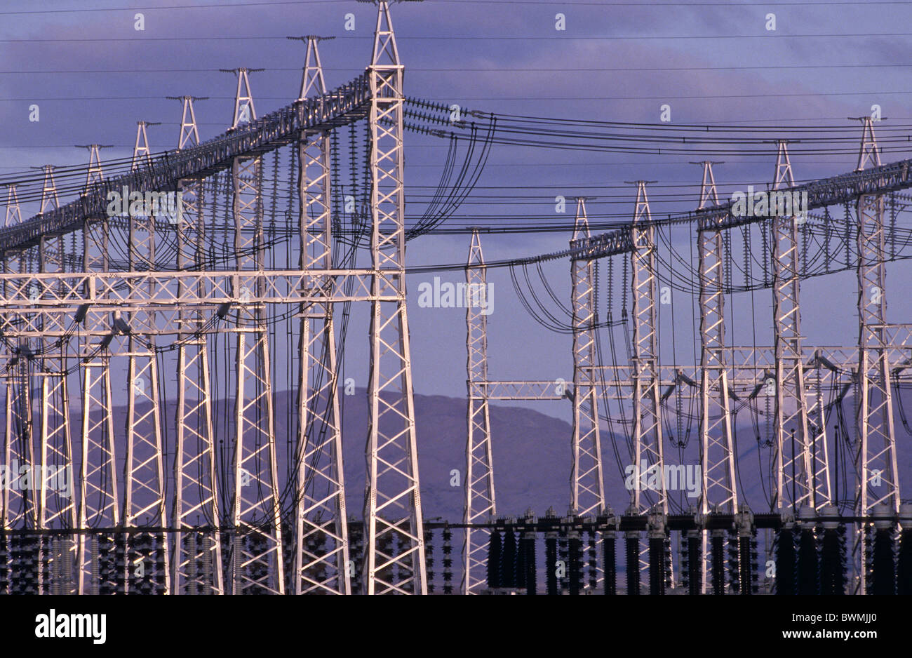 Hydro-electric grid, New Zealand - Stock Image