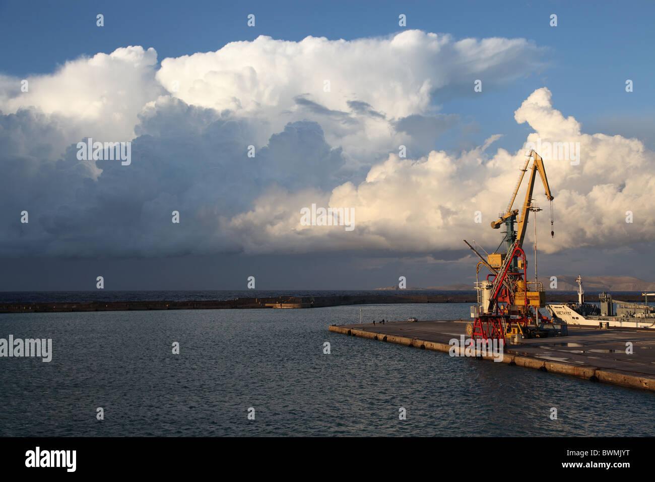 Cumulonimbus Clouds over Mediterranean - Stock Image