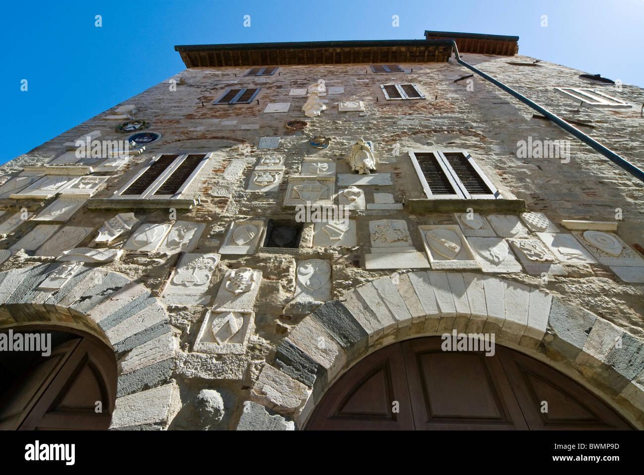 Palazzo Pretorio, Campiglia Marittima, Livorno Province, Tuscany, Italy - Stock Image