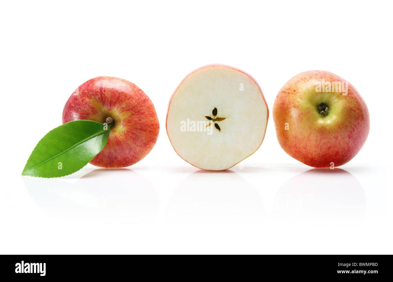 Row of Sliced Apple - Stock Image