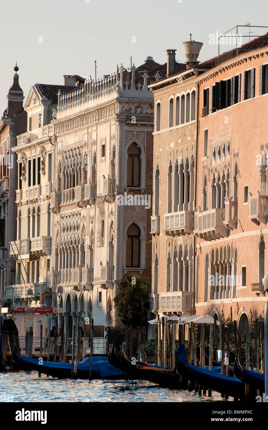 Facade of Palazzo Ca´ d´Oro  in the middle on Canal Grande Venice, Italy 2010 - Stock Image