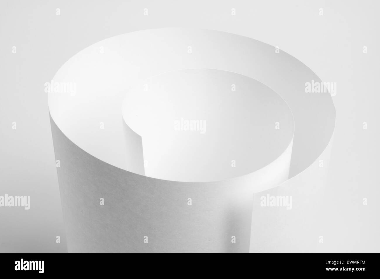 Rolled Up Paper - Stock Image