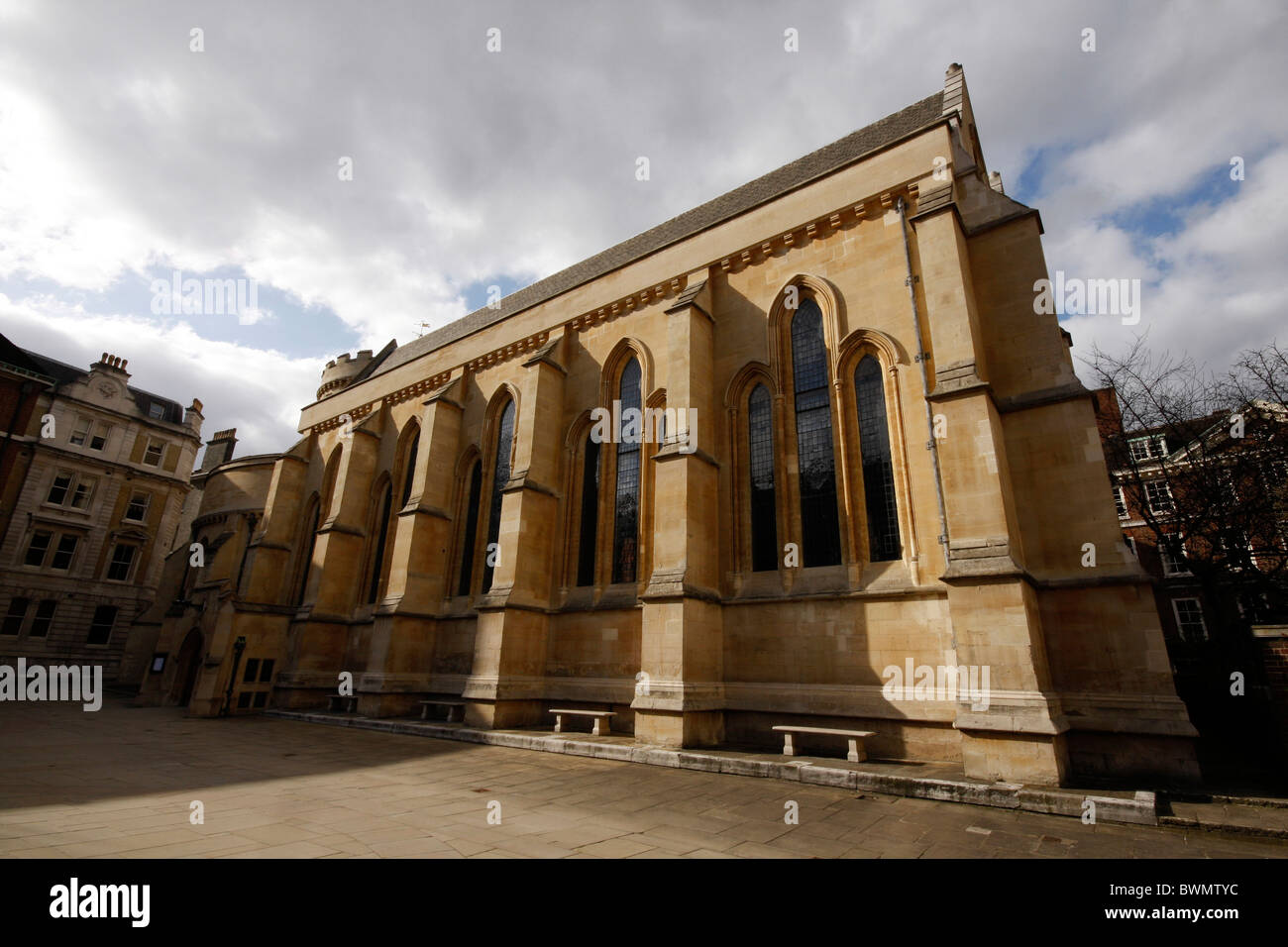 The Temple Church in London, near Fleet Street which featured in the book and film, The Da Vinci Code - Stock Image
