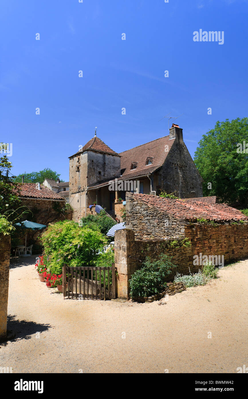 Malbernat holiday rental property in the Lot region of southern France Stock Photo