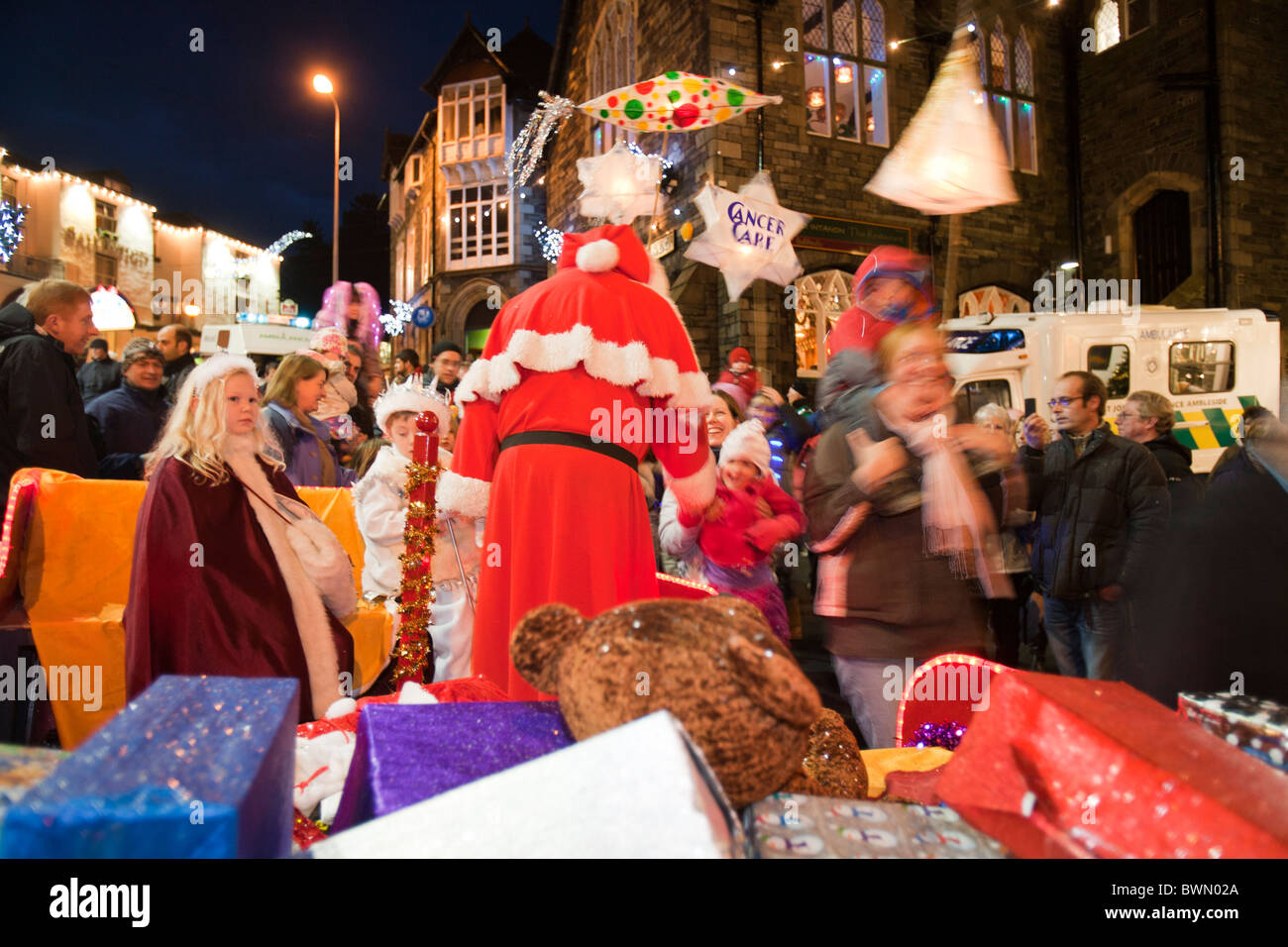 Father Christmas at the Christmas lights switch on in Ambleside ...