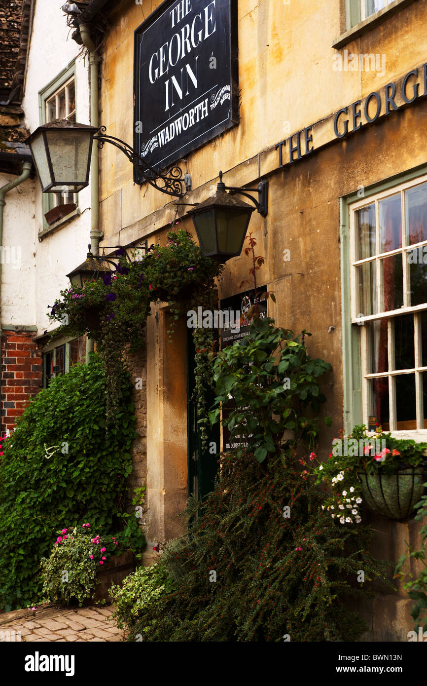 The George Inn at Lacock in Wiltshire UK - Stock Image