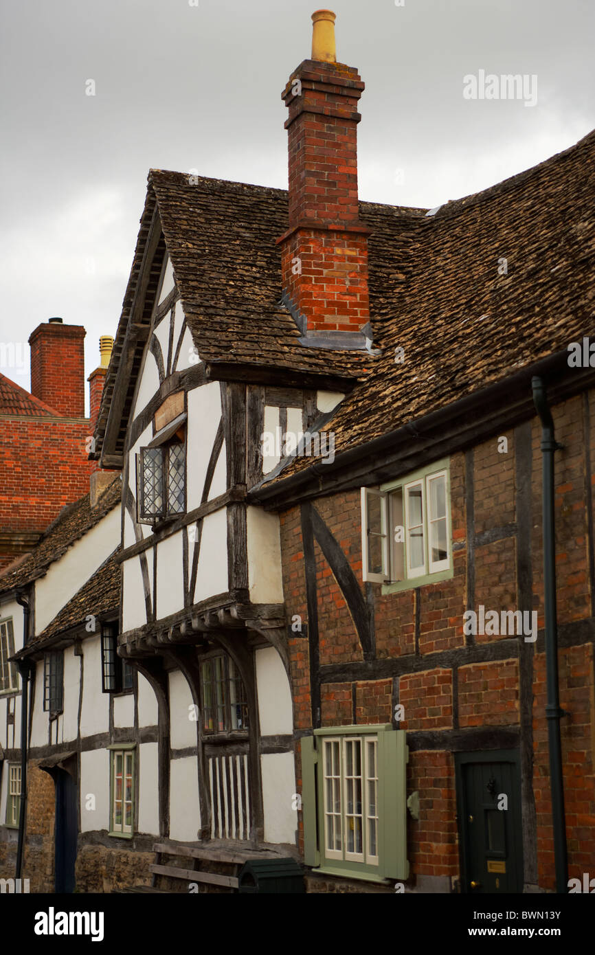 Elizabethan house in the village of Lacock in Wiltshire UK - Stock Image