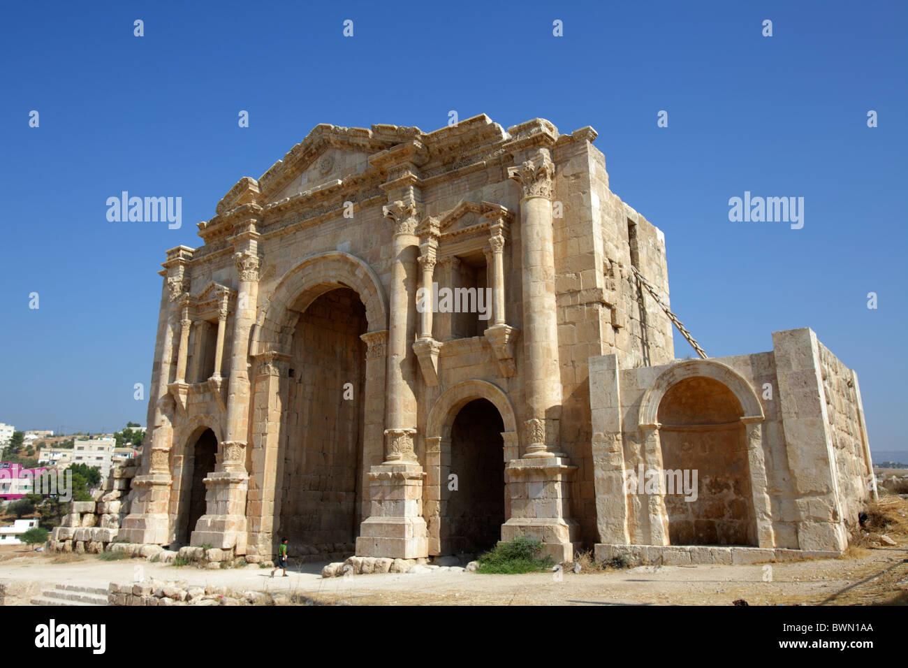 The Arch of Hadrian, Jerash Jordan - Stock Image
