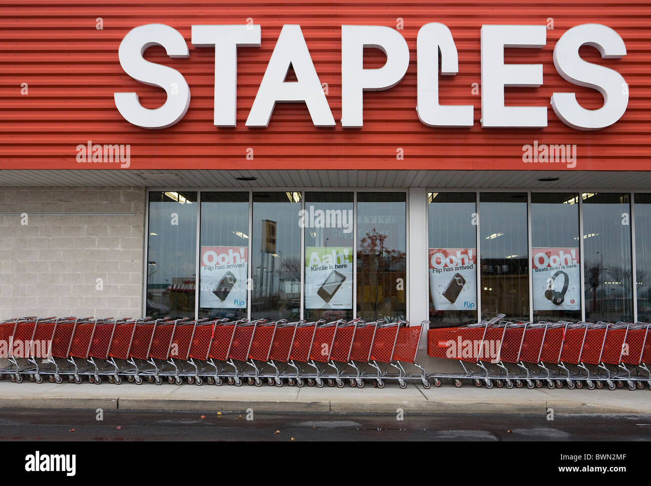A Staples office supply superstore.  - Stock Image