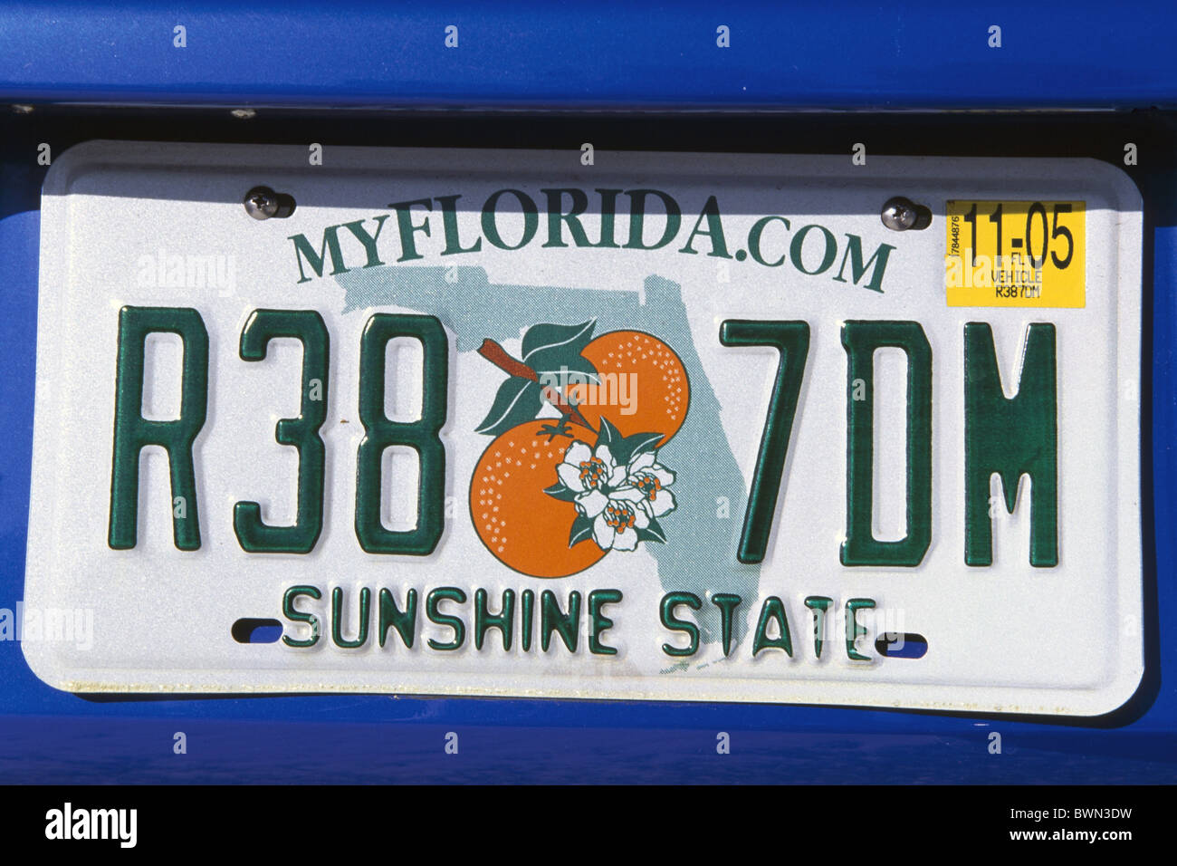 ORLANDO Florida Sunshine State Background Metal Novelty License Plate