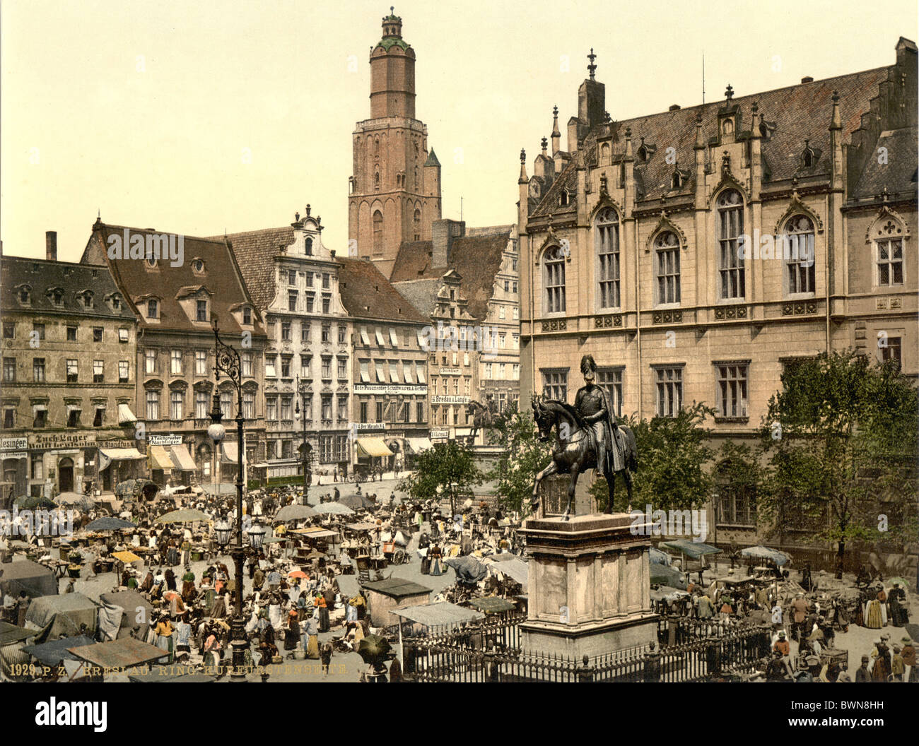 https://c8.alamy.com/comp/BWN8HH/market-place-breslau-silesia-formerly-germany-europe-german-empire-BWN8HH.jpg