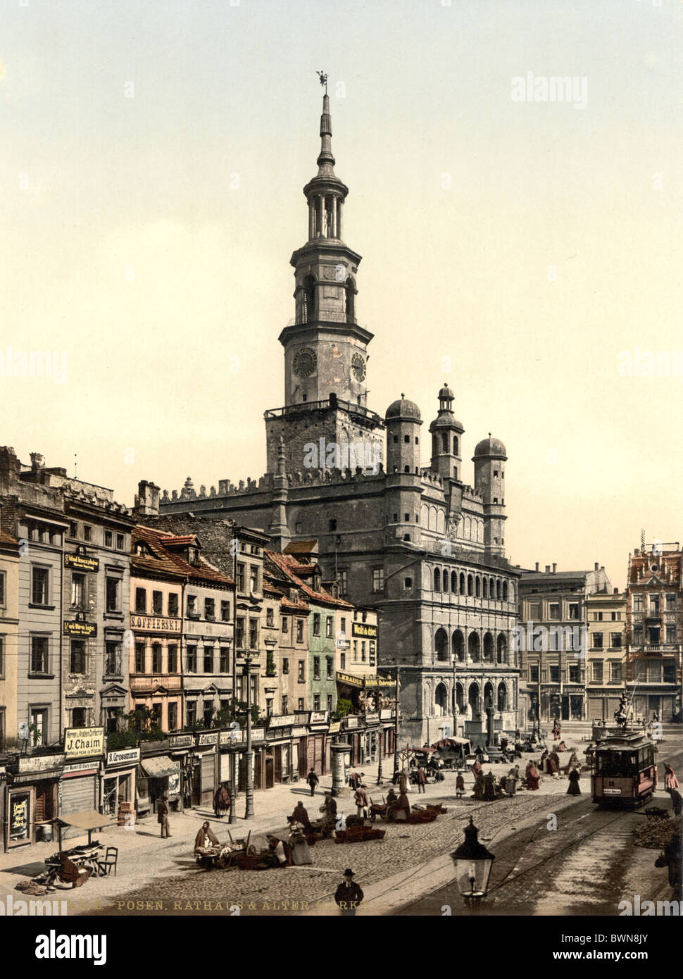 Posen Poznan formerly Germany Europe German Empire Poland Photochrom about 1900 history historical historic - Stock Image