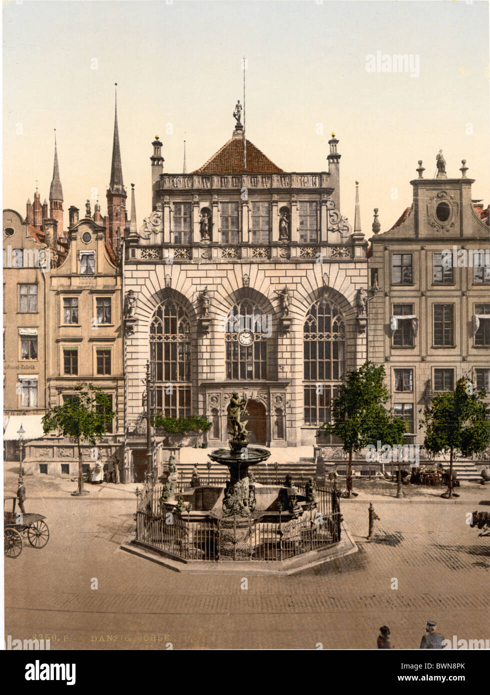 Danzig West Prussia formerly Germany Europe German Empire Poland Photochrom about 1900 history historical hi - Stock Image