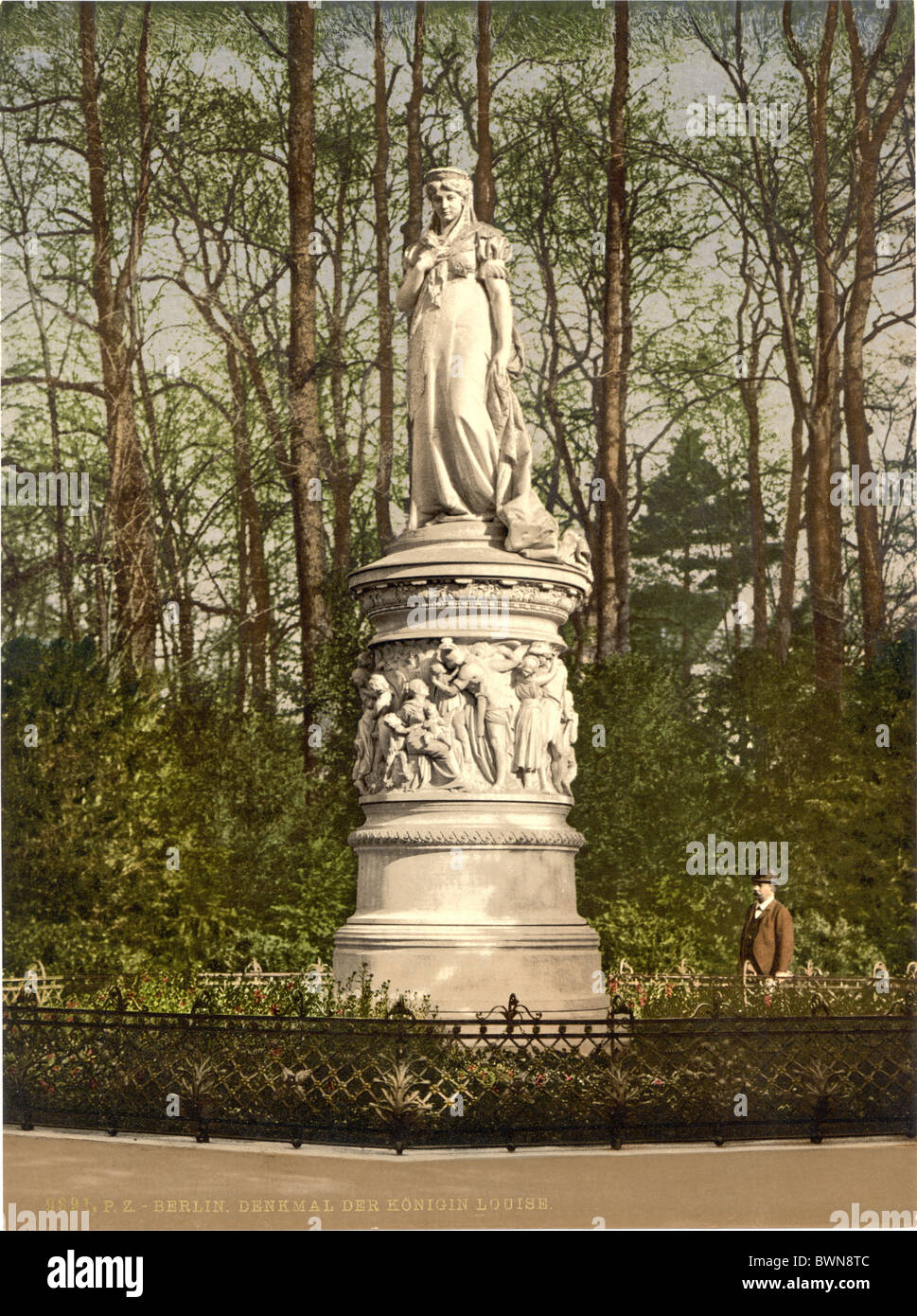 Berlin Queen Louise Memorial Germany Europe Photochrom about 1900 German Empire history historical historic - Stock Image
