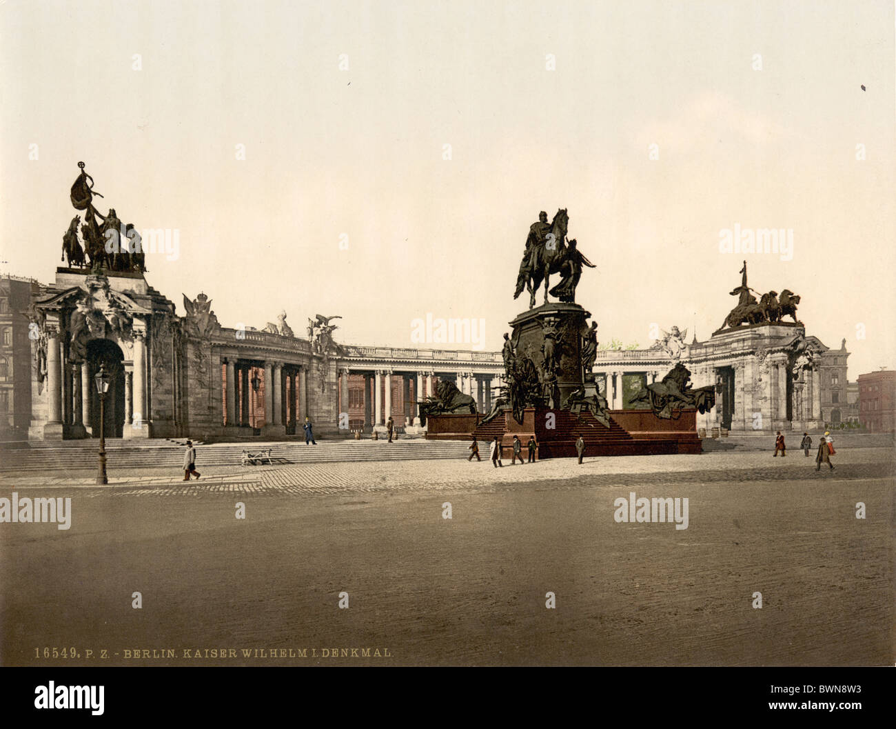 Berlin Emperor William I Monument Germany Europe Photochrom about 1900 German Empire history historical histo - Stock Image