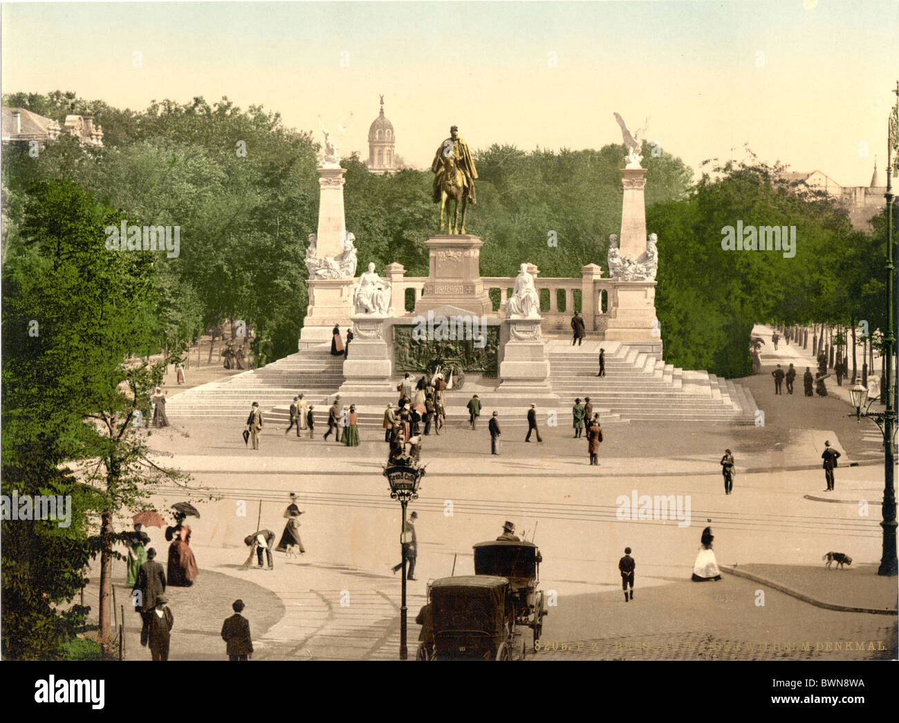 Emperor William I Memorial Breslau Silesia formerly Germany Europe German Empire Poland Photochrom about 1900 - Stock Image