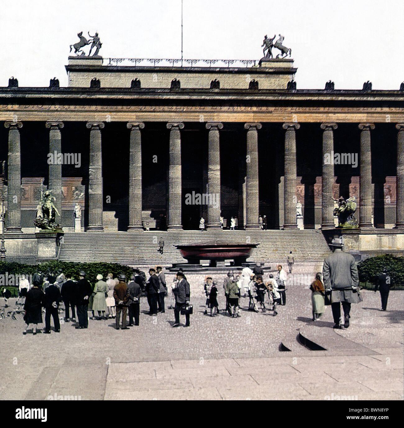 Berlin Old Museum 1925 Altes Museum by Karl Friedrich Schinkel architecture classicism Lustgarten history his - Stock Image
