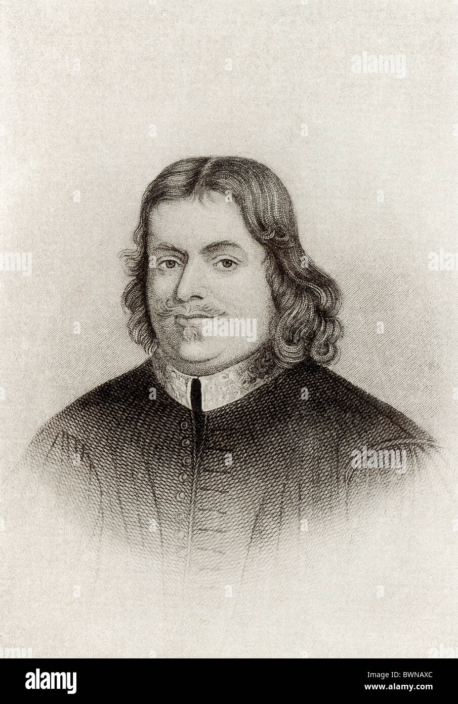 A Reformed Baptist, John Bunyan (1628-1688) was an English writer and preacher best known for his work 'Pilgrim's - Stock Image