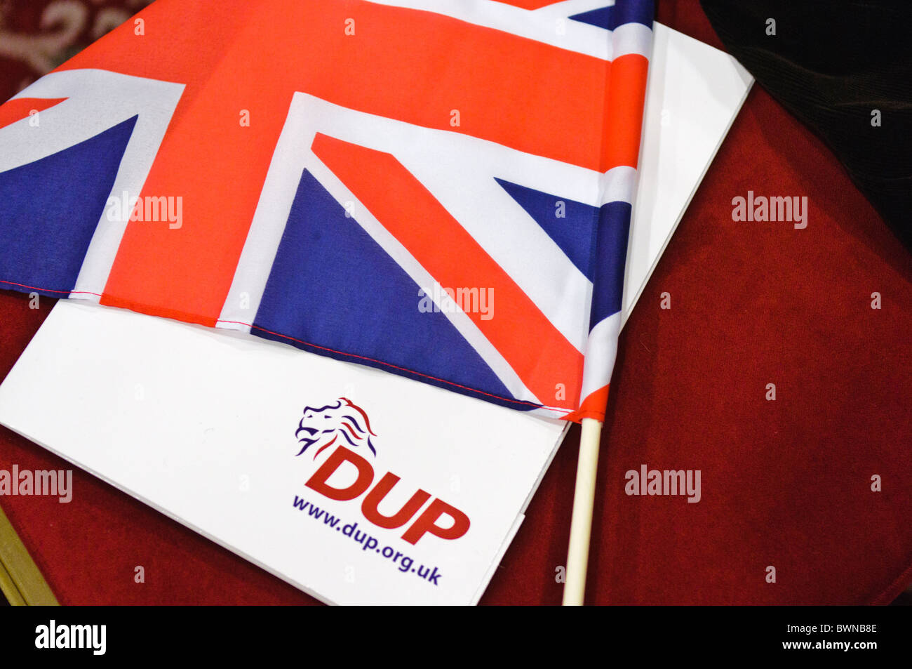 DUP Party Conference. BELFAST 27/11/2010 - Stock Image