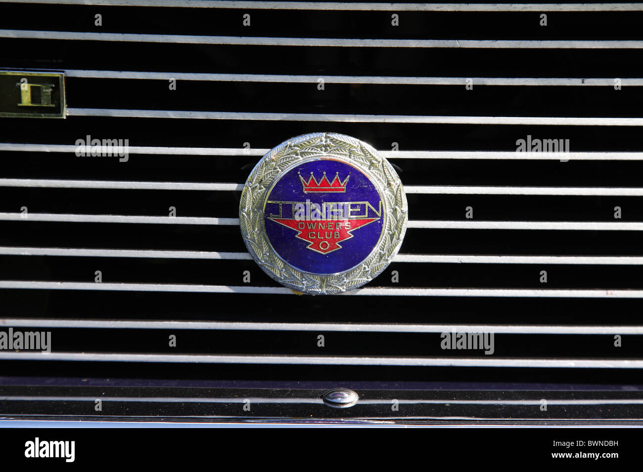 JENSON OWNERS CLUB BADGE STAINDROP NORTH YORKSHIRE RABY CASTLE STAINDROP NORTH YORKSHIRE STAINDROP NORTH YORKSHIRE - Stock Image