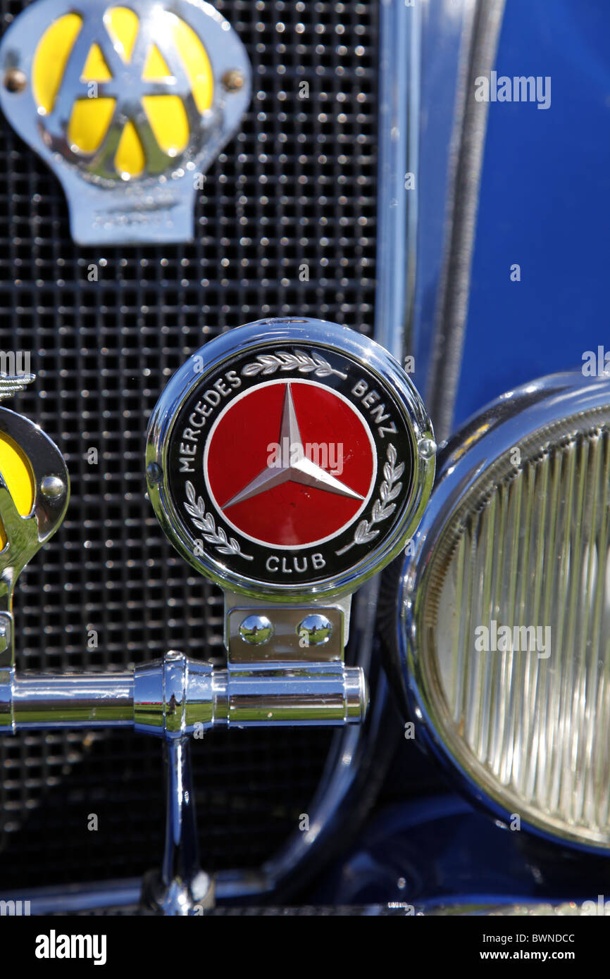 MERCEDES BENZ CLUB BADGE STAINDROP NORTH YORKSHIRE RABY CASTLE STAINDROP NORTH YORKSHIRE STAINDROP NORTH YORKSHIRE - Stock Image