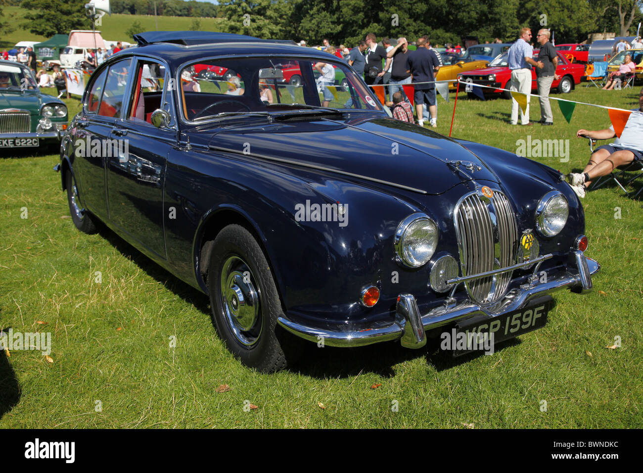 BLUE 1968 MKII JAGUAR CAR STAINDROP YORKSHIRE RABY CASTLE STAINDROP NORTH YORKSHIRE STAINDROP NORTH YORKSHIRE 22 - Stock Image