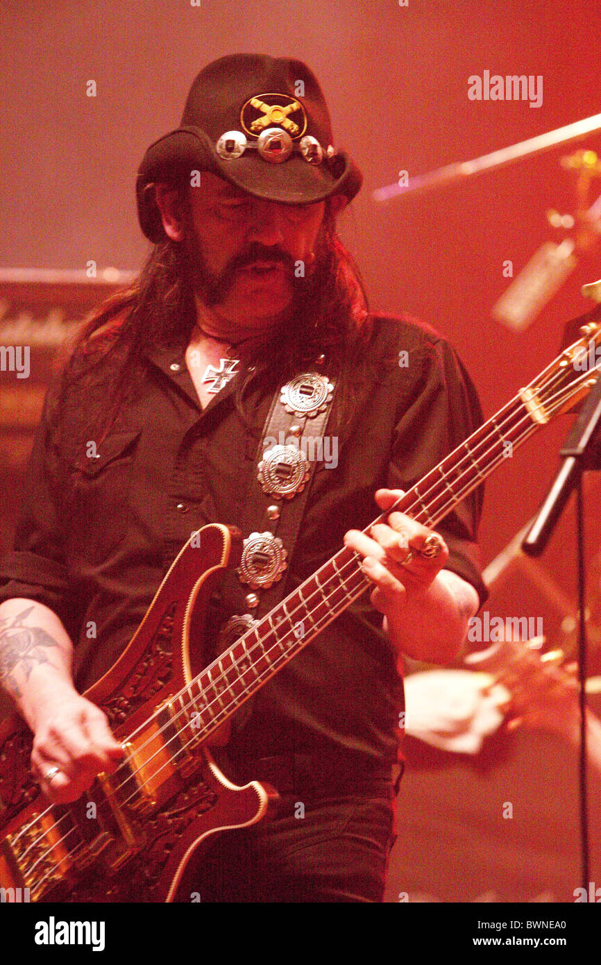 Motorhead performing at the Brixton Academy Stock Photo