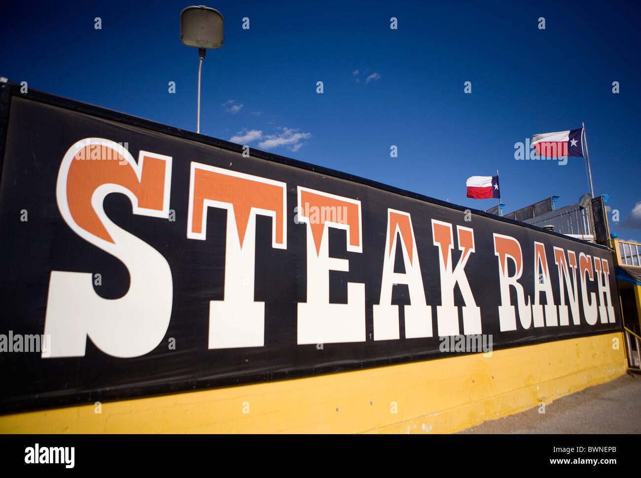 The Big Texan Steak Ranch in Amarillo Texas.  - Stock Image