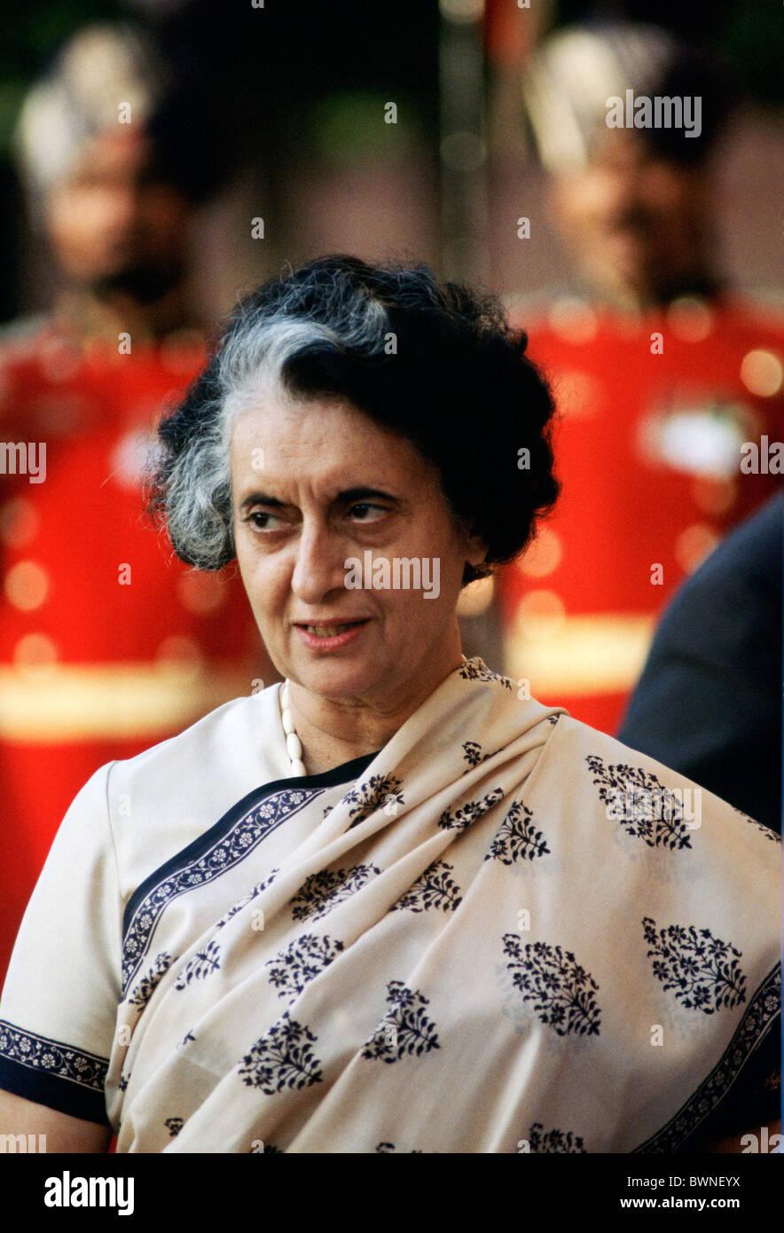 Indira Gandhi, Prime Minister of India - Stock Image