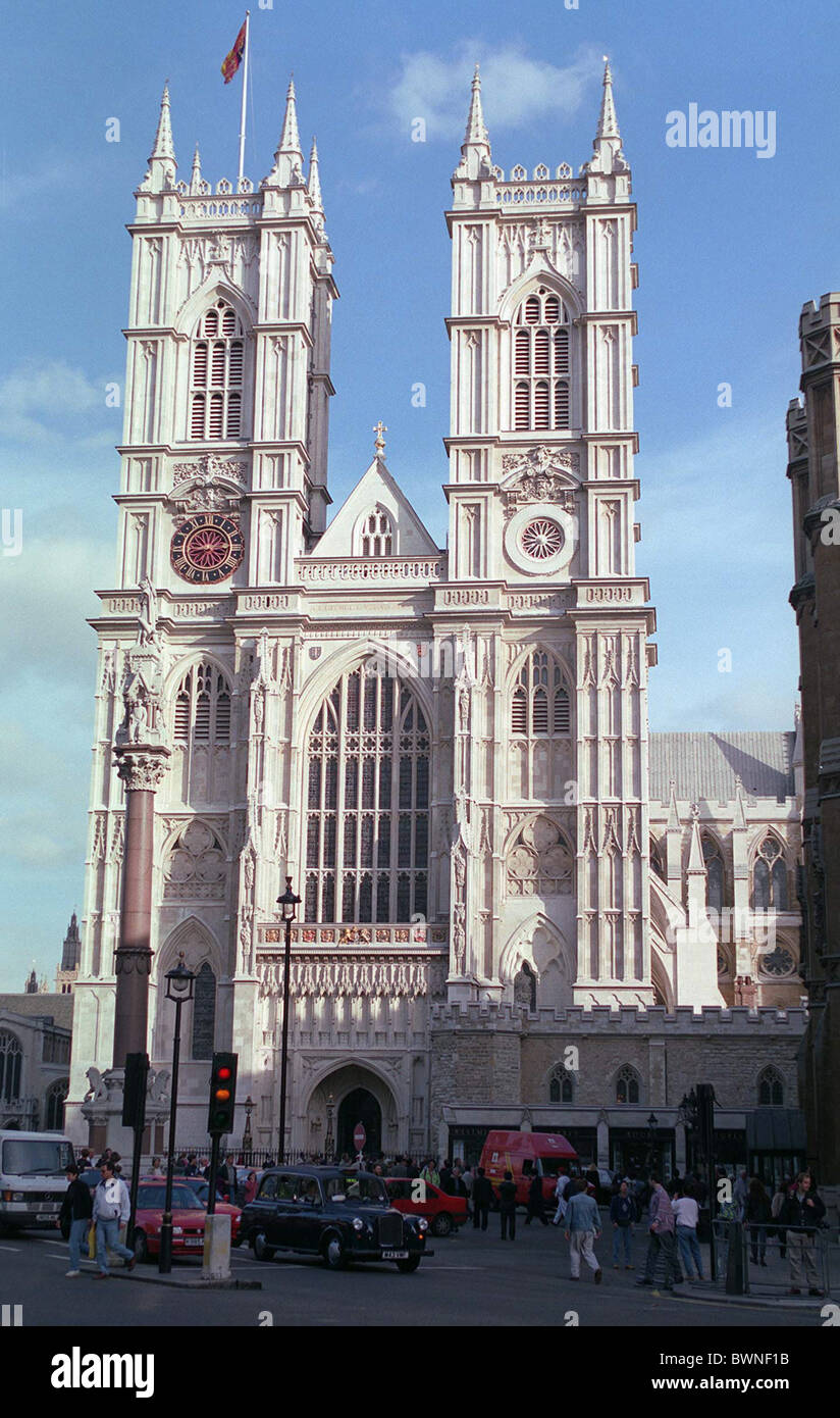 WESTMINSTER ABBEY AFTER THE COMPLETION OF ITS RESTORATION WHICH TOOK 20 YEARS AND COST 25 MILLION POUNDS - Stock Image