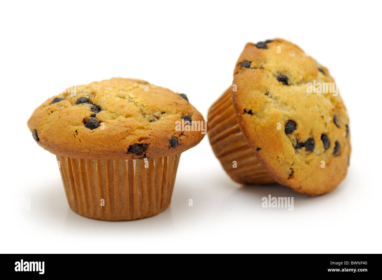 Muffins (chocolate chip) - Stock Image