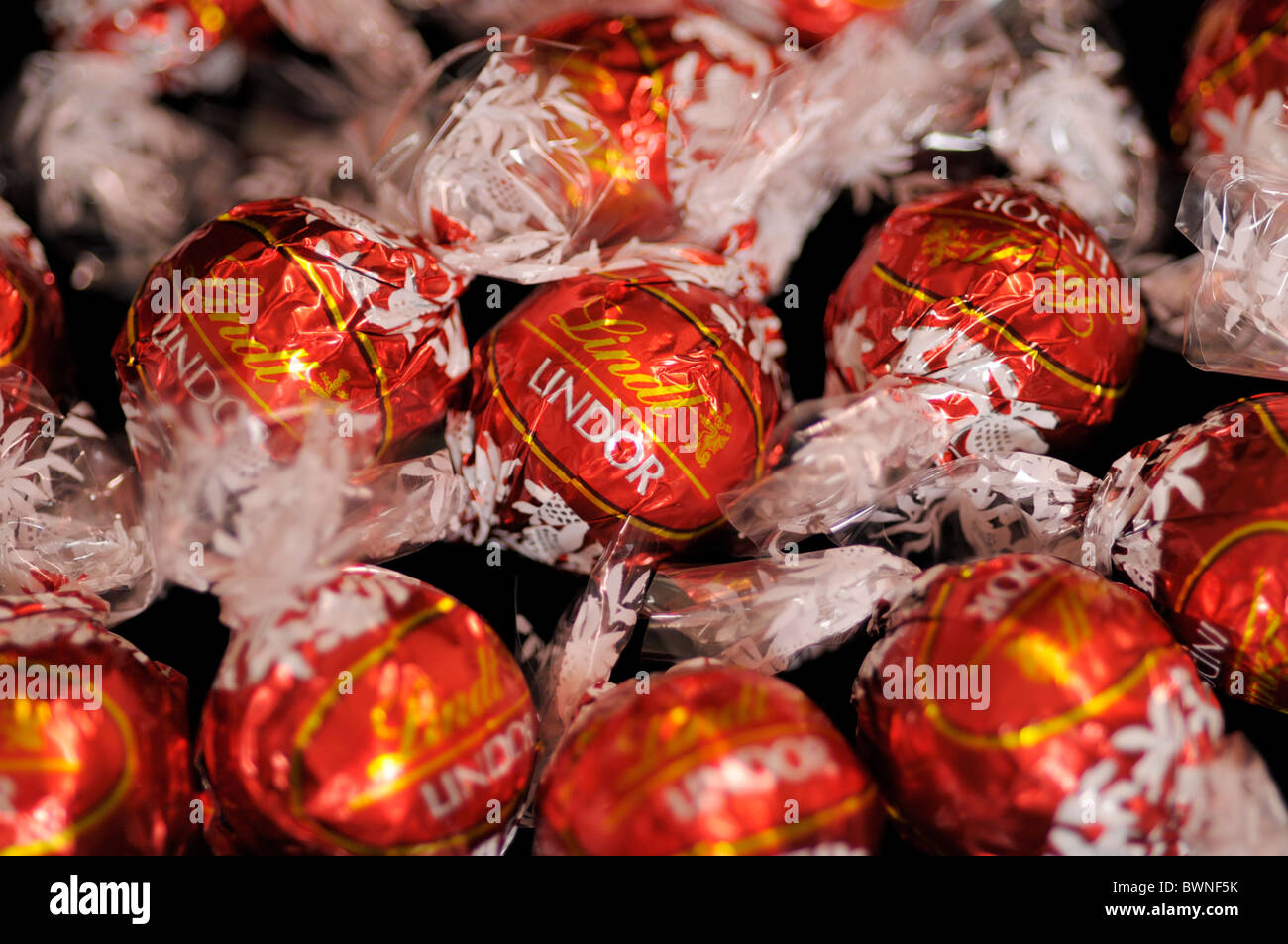 Wrapped Chocolate balls - Stock Image