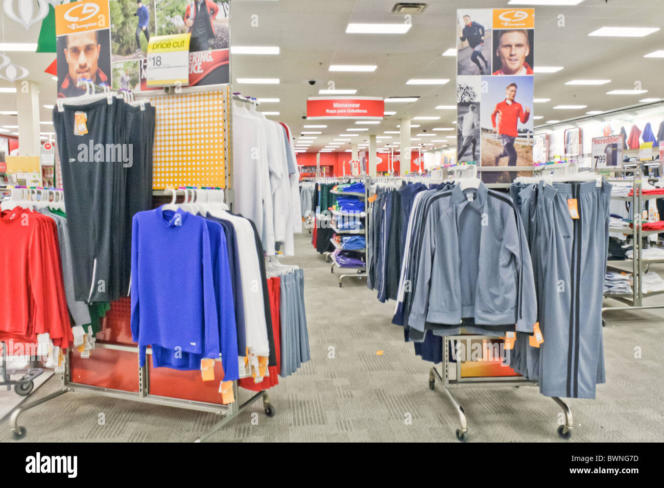 target department store thanksgiving and christmas sale stock image